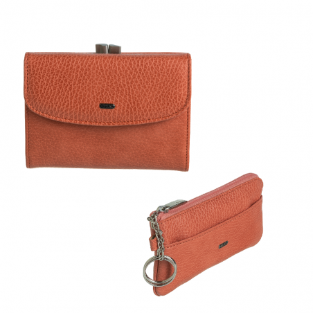Grace mini set meruňkový - peněženka a klíčenka